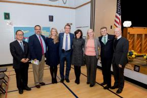 a photo of our administrators with school board members and county representatives