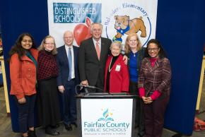 a photo of Governor McAuliffe with county and state officials