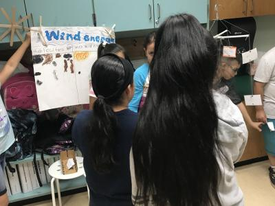 photo of students presenting projects
