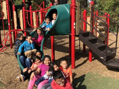 Second graders enjoy the fall weather