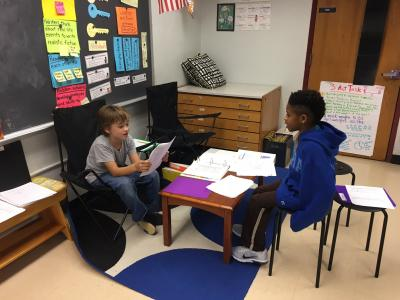 Third graders prepare for Student Led Conferences