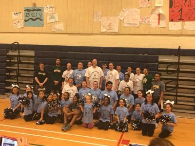 photo from the parent-staff basketball game