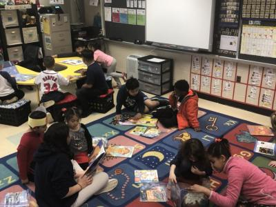 photo of students reading together